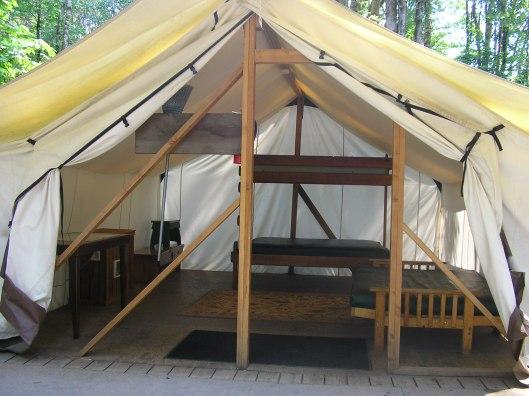 Platform tent Dosewallips State Park