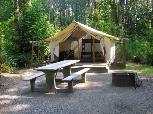 Campsite Dosewallips State Park Platform Tent