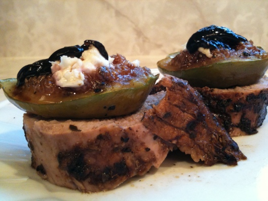 Grilled Pork Tenderloin with Figs