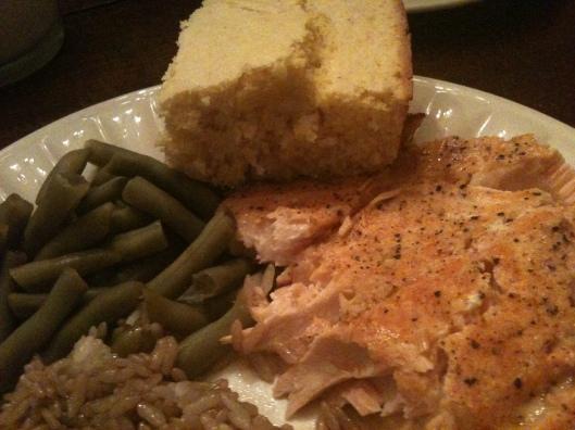 salmon & cornbread