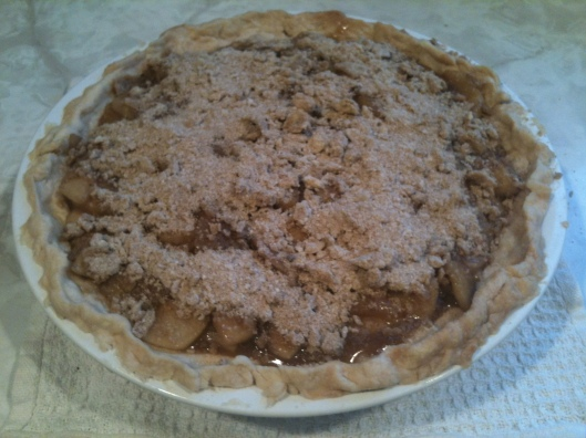 caramel apple pumpkin pie