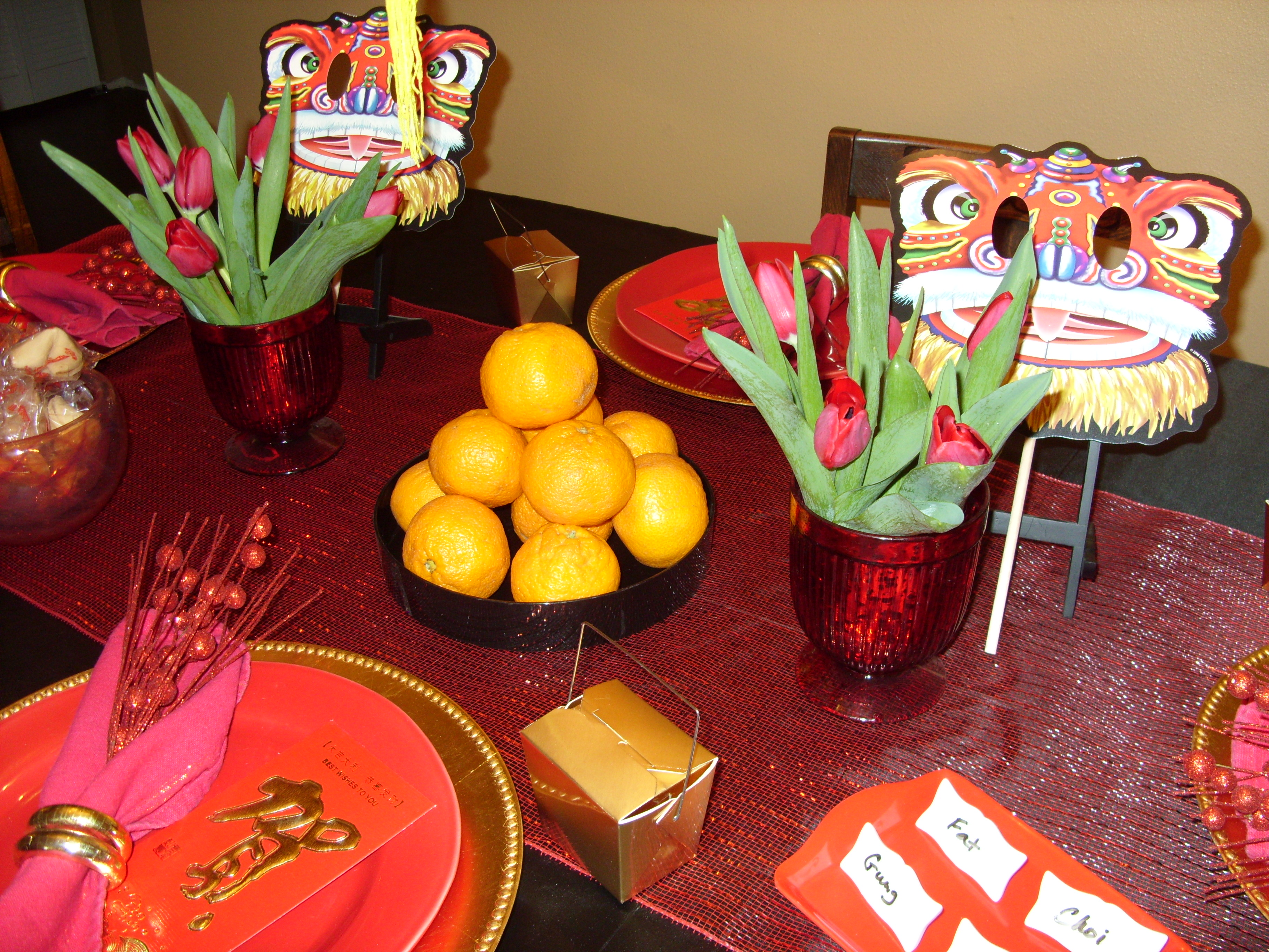 Chinese table setting -  Each