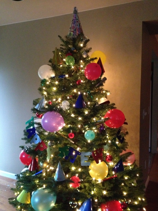 Festive New Year's Eve Tree