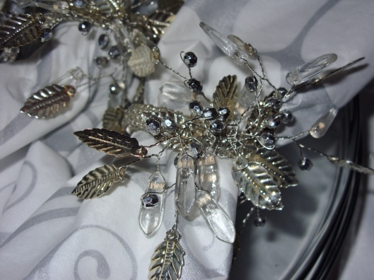 New Years Eve Table - napkin rings