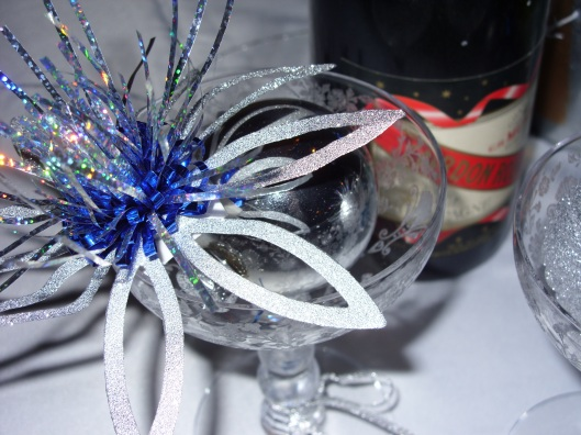 New Years Eve Table - Champagne glasses
