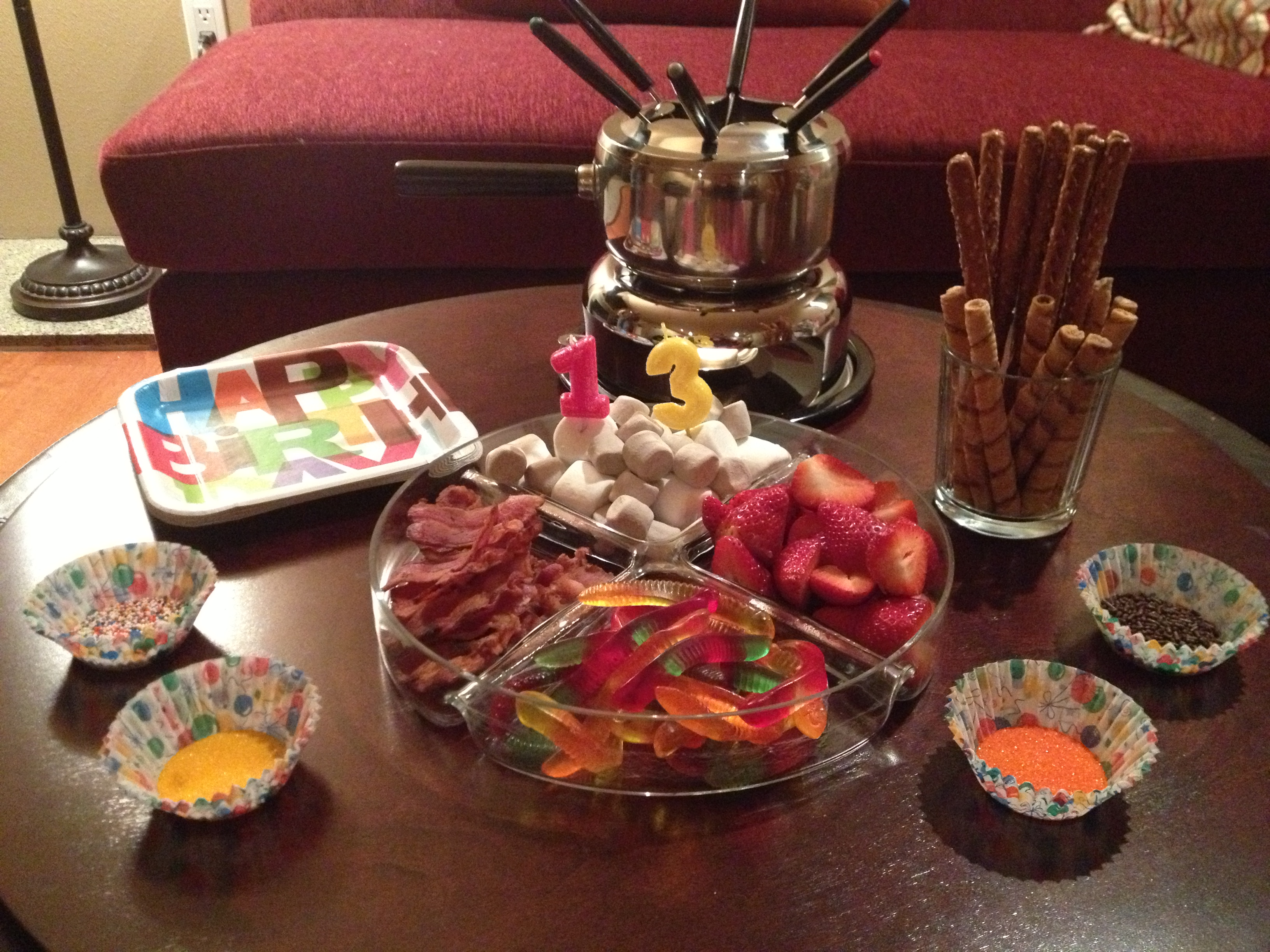 Fondue Dinner Party Ideas Part - 31: Chocolate Fondue