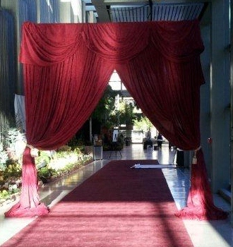 Red Carpet Draped Entry