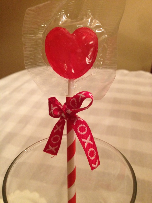 Valentine Lollipop Centerpiece