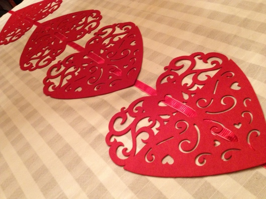 Dollar Store Valentine Heart Placemats Table Runner