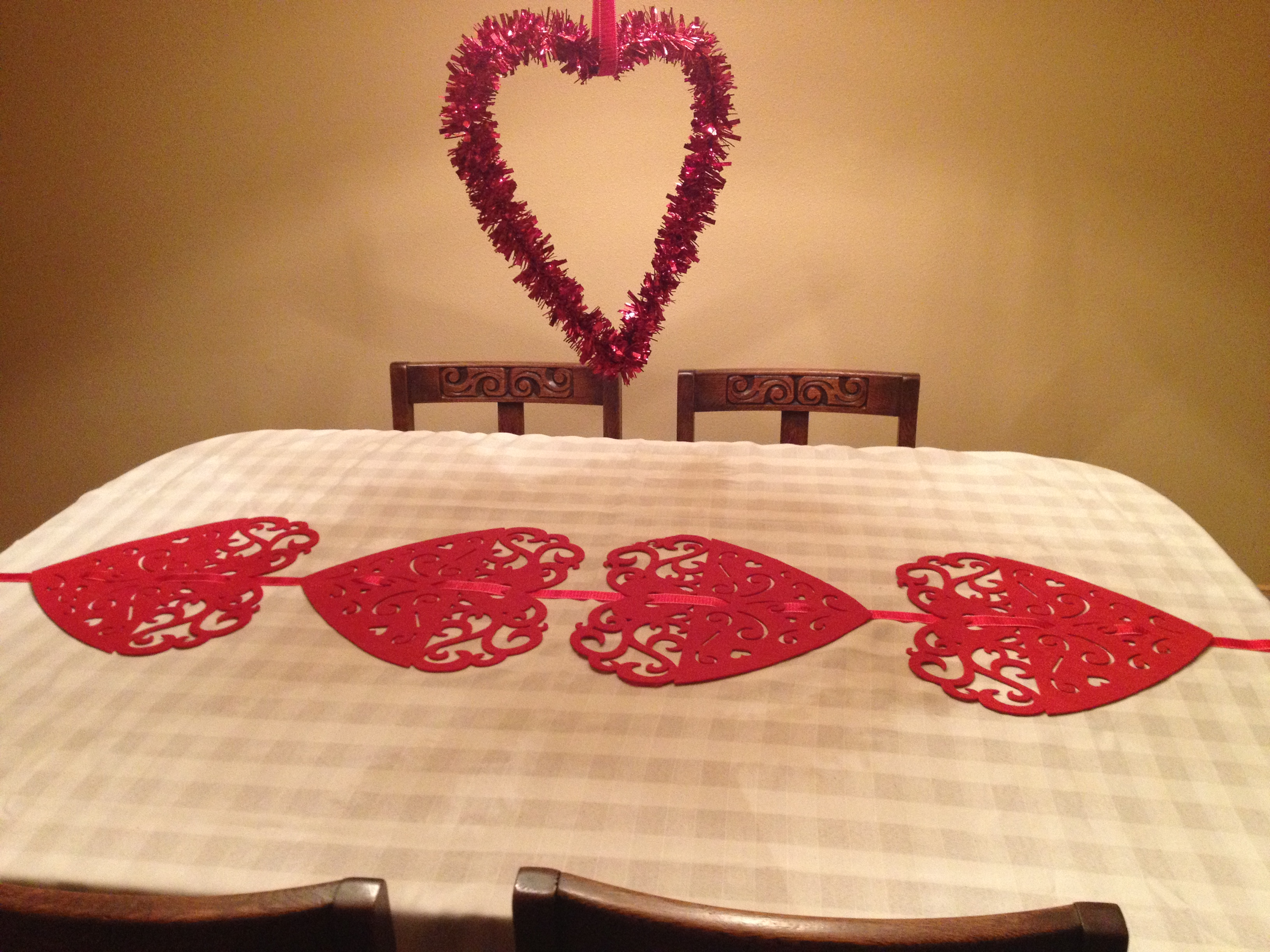 from (a  down  runners.  the table To of something made table runner placemats the center me, runner table