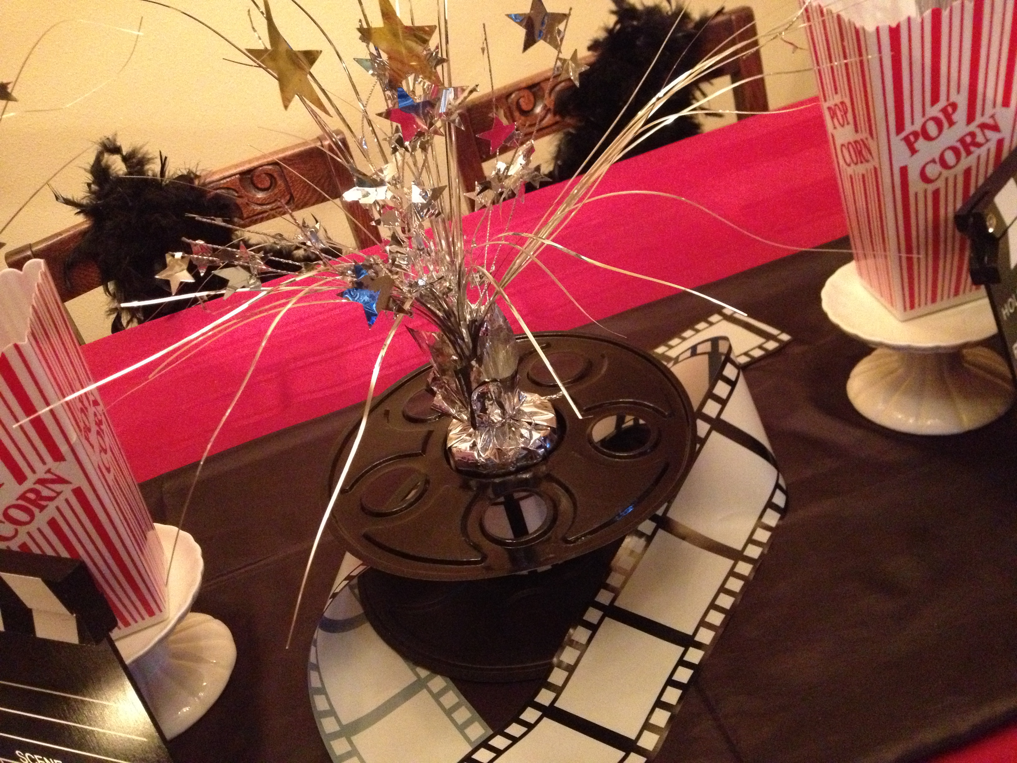 Movie Reel Centerpieces i Added a Party Movie Reel i