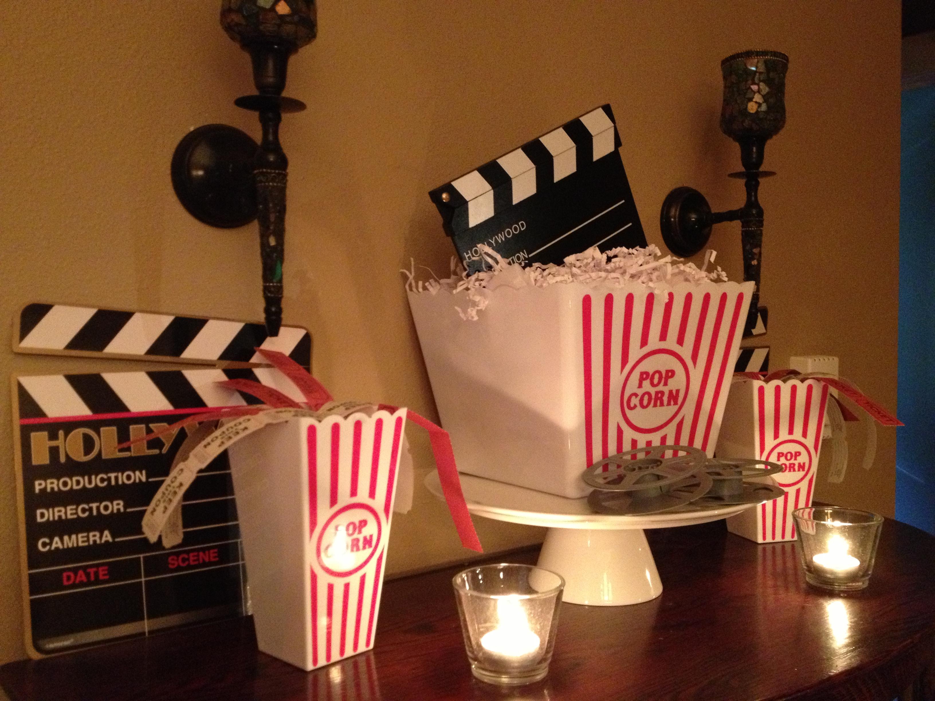Movie Night Centerpieces Movie Night Party