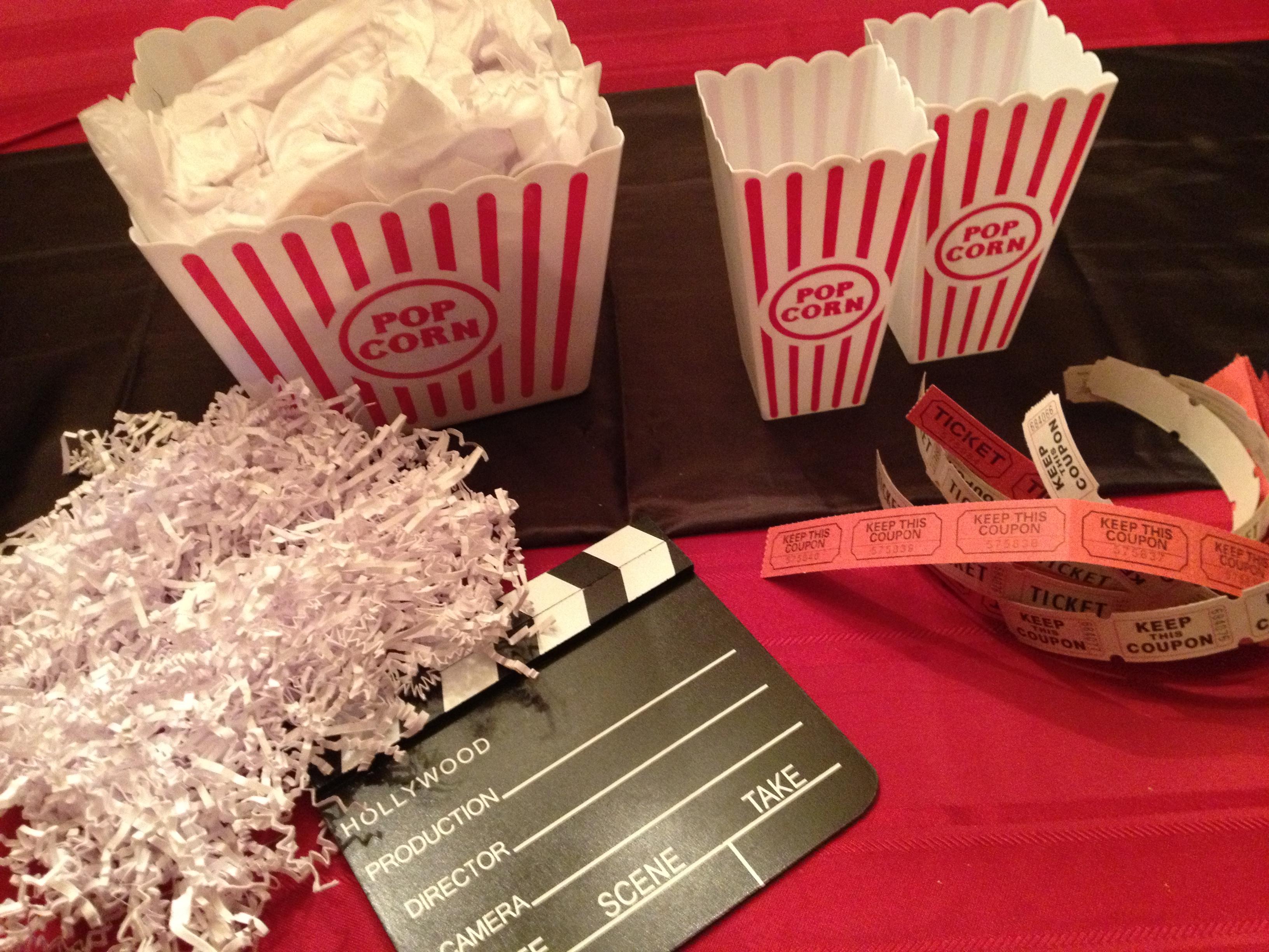 Movie Night Centerpieces Popcorn Box Movie Night