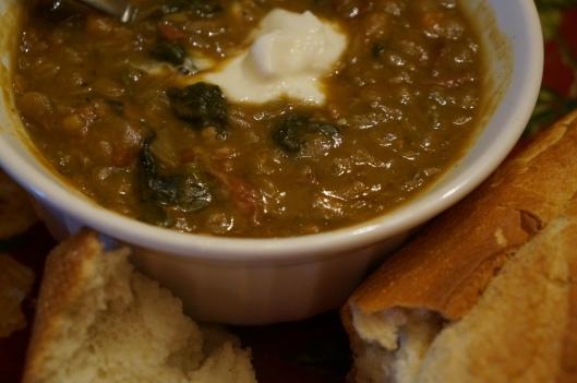 Ham & Lentil Soup in a Slow Cooker