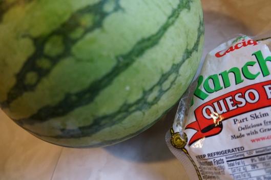 Watermelon & Queso Salad