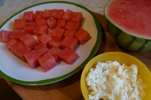 Watermelon & Queso Salad