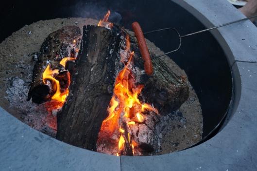 hot dog roasting