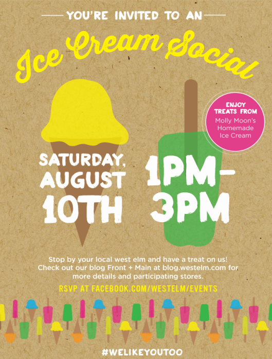 West Elm Ice Cream Social