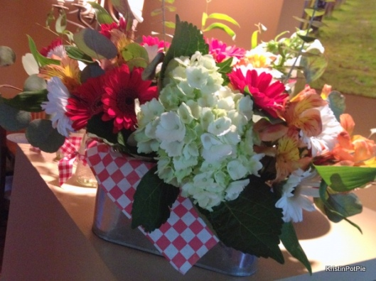 Picnic party flower arrangement